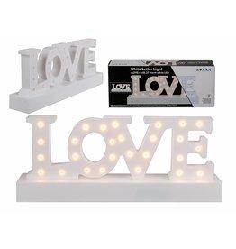 LED Deko Schriftzug LOVE aus Kunststoff 30x12cm 27 warmweisse LEDs 220340