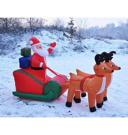 Weihnachtsmann mit Schlitten selbstaufblasend 240cm inkl. Gebläse 54118