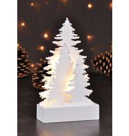 Baum-Silhouetten Baumgruppe aus Holz 5 warmweisse LEDs 54849