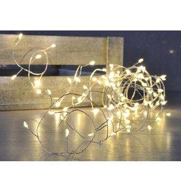 LED Kupferdraht Lichterkette 100 LEDs warmweiss 76630