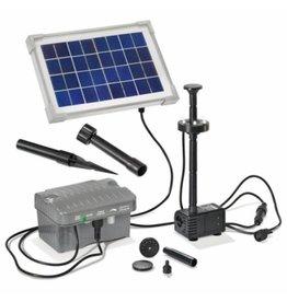 Esotec 101775 Solar Teichpumpe Palermo mit LED-Licht und Akku