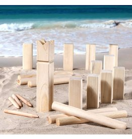 Kubb Outdoor Strand Spiel Geschicklichkeitsspiel aus Holz 66154