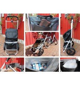 Fahrrad Anhänger Trolley Einkaufsroller mit Kupplung 2435