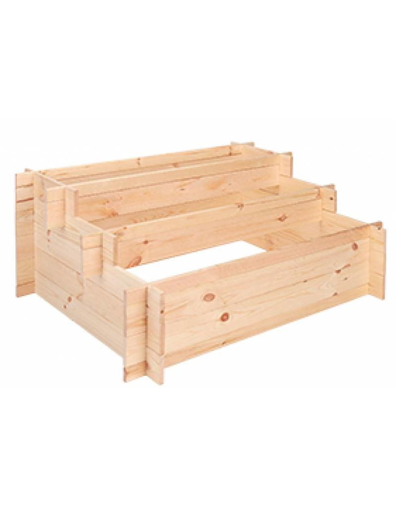 Stufen Hochbeet 3-stufig aus Holz 100x75x24-40cm 62908