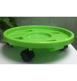 Pflanzenroller mit Feststellbremse grün aus Kunststoff 94149