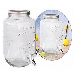 HI 13083 Getränkespender Wasserspender aus Glas 3 Liter mit Zapfhahn