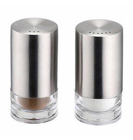 Weis 11233 Salz- und Pfefferstreuer Set 2tlg aus Edelstahl und Acrylglas H8,5cm