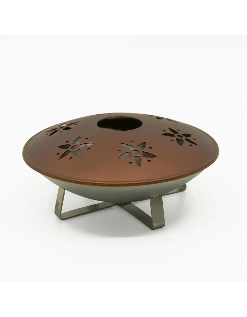 Räucherschale Räucherkegel Teelicht Bugy 12cm kupferfarben 302880131-HE