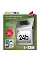 EASYmaxx Solar LED Hausnummer Edelstahl mit 4 LEDs