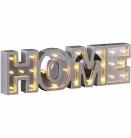 LED Deko Beleuchtung Schriftzug mit Spiegel-Effekt HOME 54940