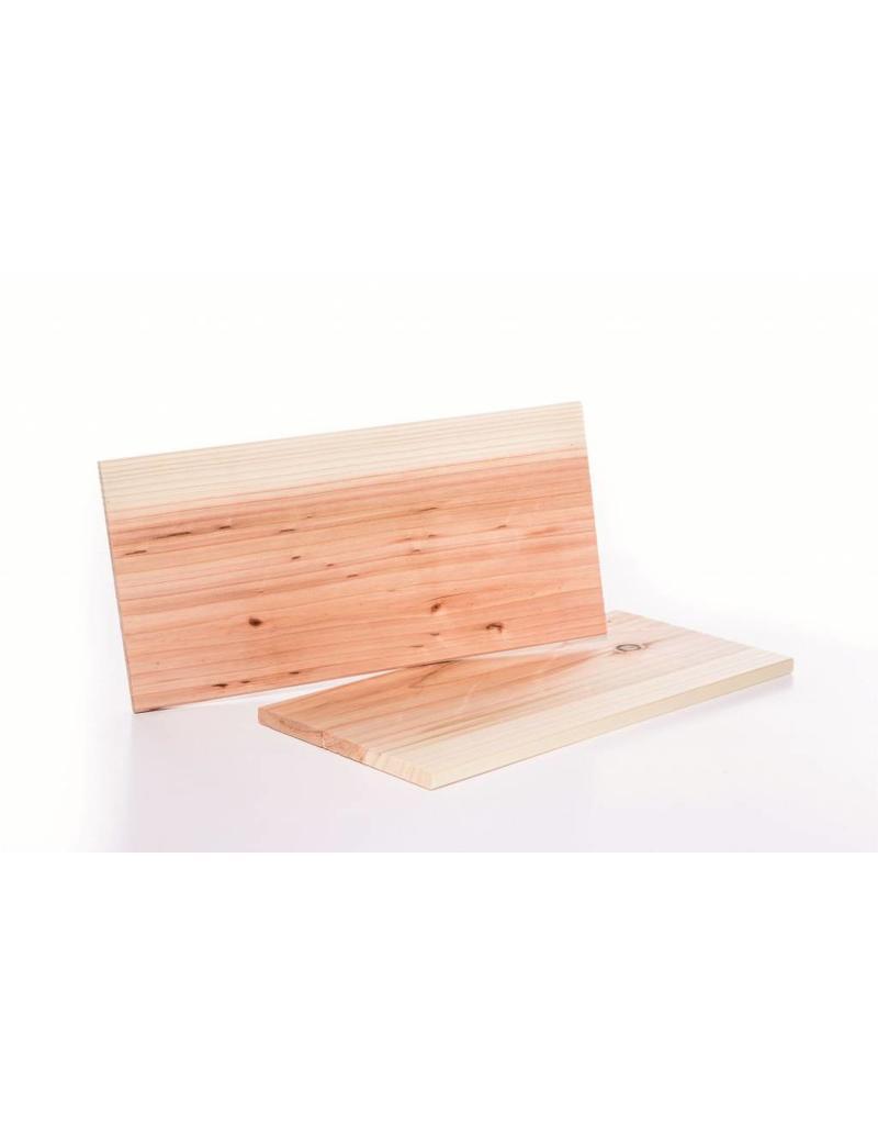 Zedernholz Grillbretter 2er-Set 15x30cm für Raucharoma beim Grillen 200780108-HE