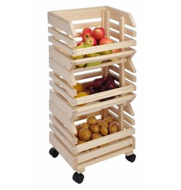HI 90055 Obsthorde Kartoffelhorde Kartoffelkiste 3tlg aus Holz