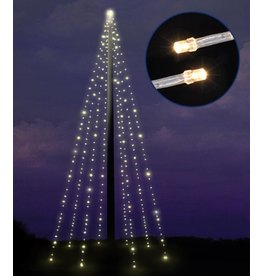 HI 76046 Fahnenmast Lichterkette mit 400 warmweissen LEDs 8x10m