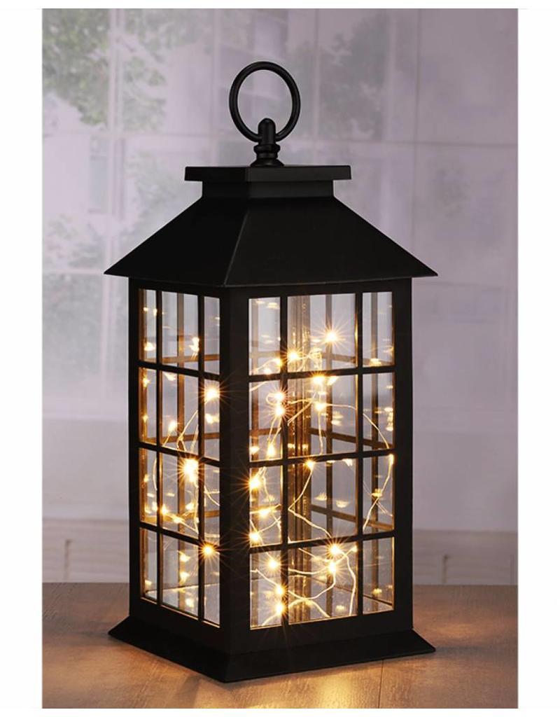 HI 57091 Laterne mit warmweisser Kupferlichterkette 30 LEDs