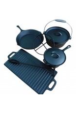 Westerholt 2273 Gusseisen Koch- und Grillset für den Einsatz auf offenem Feuer