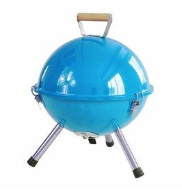 HI 60341 Mini Picknick Kugelgrill 32cm mit Grillrost und Tragegriff hellblau