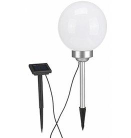 HI 70309 Solar Kugelleuchte Solarkugel mit 2 rotierenden warmweissen LEDs 20cm