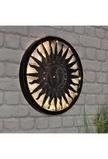 HI 70330 Wandbild Sonne 40cm mit 12 LEDs und Akku