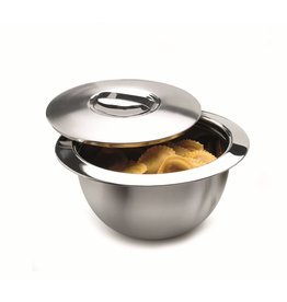 Weis 240267 Edelstahl Thermo Küchenschüssel Schüssel mit Deckel 25,5cm 1,8 Liter