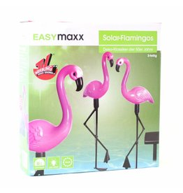 EASYMAXX Solar Flamingos 3er Set