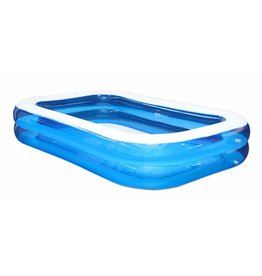 HI 62164 Familien Pool 211x132x46cm transparent-blau