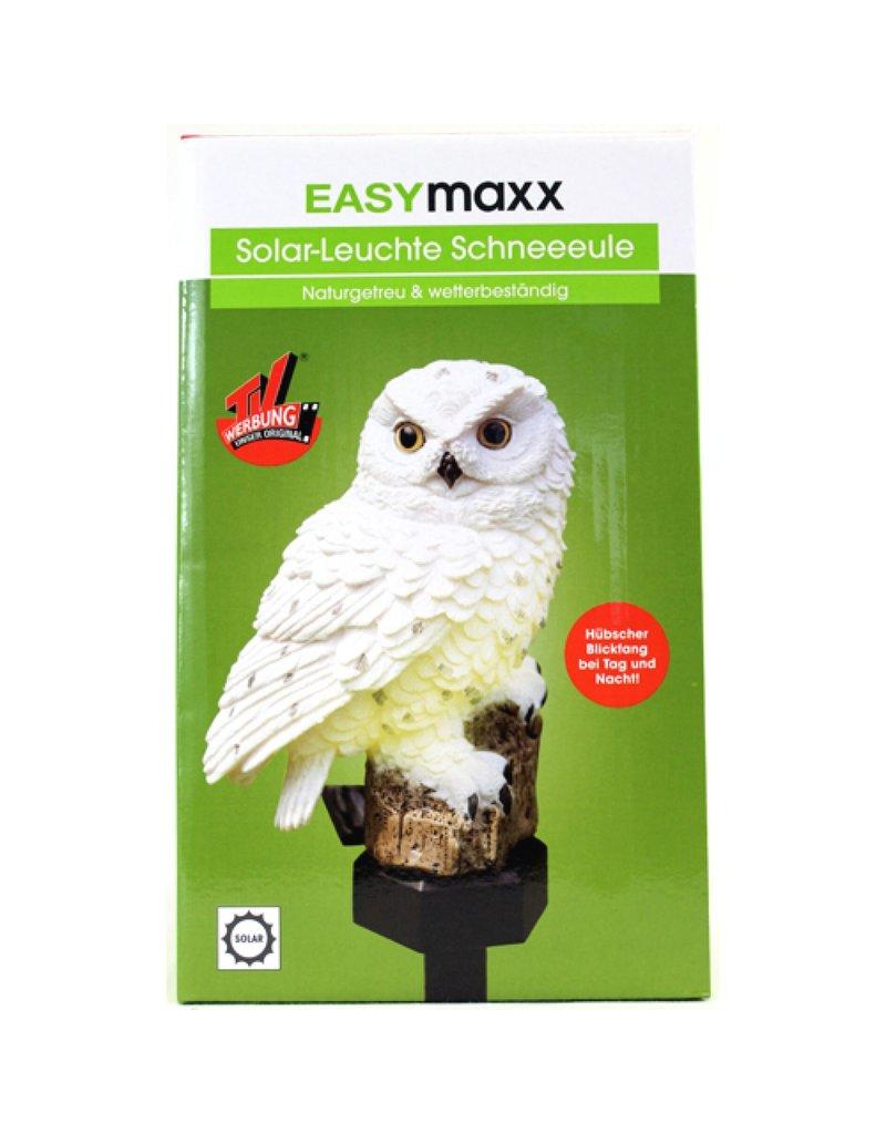 EASYMAXX Solarleuchte Eule Schneeeule weiss 067660