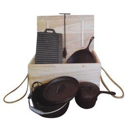 Westerholt 2273 Gusseisen Kochtopf Pfanne Platte für den Grill oder offenem Feuer