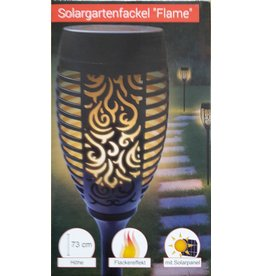 Westerholt 2513-3 Solar Gartenfackel Solarfackel 3er Set mit Flackereffekt