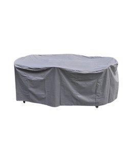Schutzhülle Abdeckung für Sitzgruppen 230x135x70 oval anthrazit 61044