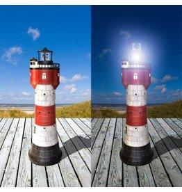 Westerholt 2325-50 Solar Leuchtturm Roter Sand Höhe 50cm aus Polyresin