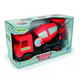 Wader 32114 Middle Truck LKW Betonmischer Betonwagen rot