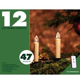 FQP 20002 LED Kerzen Weihnachtskerzen kabellos mit Fernbedienung 47tlg