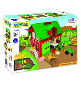 Wader 25450 Spielhaus Farm mit Traktur und Figuren