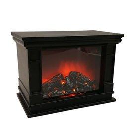 BENSON Benson 012170 LED Kamin Laterne mit Flammeneffekt
