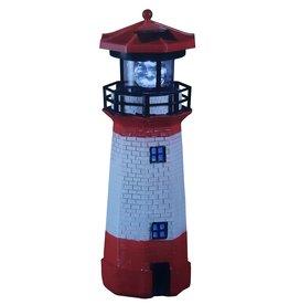 CEPEWA Solar Leuchtturm mit LED-Licht und drehbarem Spiegel 28cm 64499