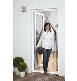 Fliegengitter Türvorhang 2x60x210cm anthrazit mit Klettband 100450105-CU