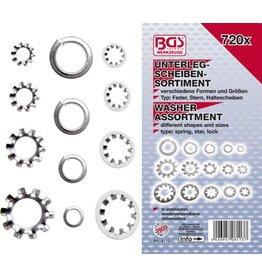 BGS technic 8113 Unterlegscheiben Sortiment ca. 3-10mm verschiedene Typen 720tlg