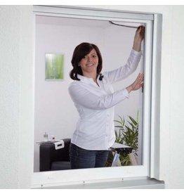 CULEX 100190101-CU Fliegengitter für Fenster 130x150cm weiss Polyester waschbar
