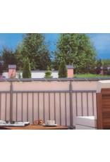 Balkonschutz Sichtschutz 6m lang 90cm hoch creme mit Kordel 300820114-HE