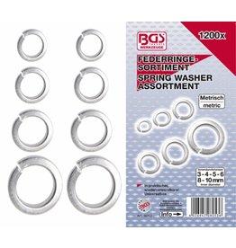BGS technic 8053 Federringe Sortiment 3-4-5-6-8-10mm 1200tlg in Kassette