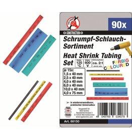 Kraftmann 88150 Schrumpfschlauch Sortiment farbig 90tlg 1,5 bis 10mm