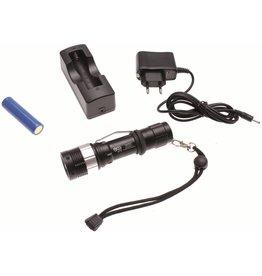 BGS technic 9775 LED Akku Taschenlampe 160lm Reichweite 150m mit Ladegerät