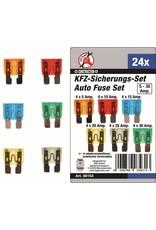 Kraftmann 88154 PKW Sicherungs-Sortiment 24tlg 5-10-15-20-25-30 Ampere