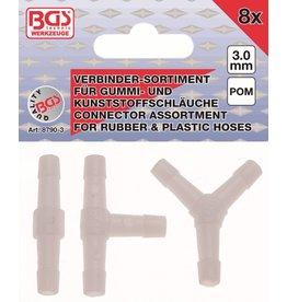 BGS technic 8790-3 Kunststoff Verbinder kraftstoffbeständig 8tg 3mm