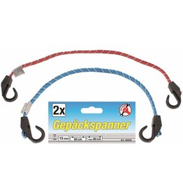 Kraftmann 85502 Gepäckspanner Gepäckgurt Gepäckband 2tlg 60 bis 80cm