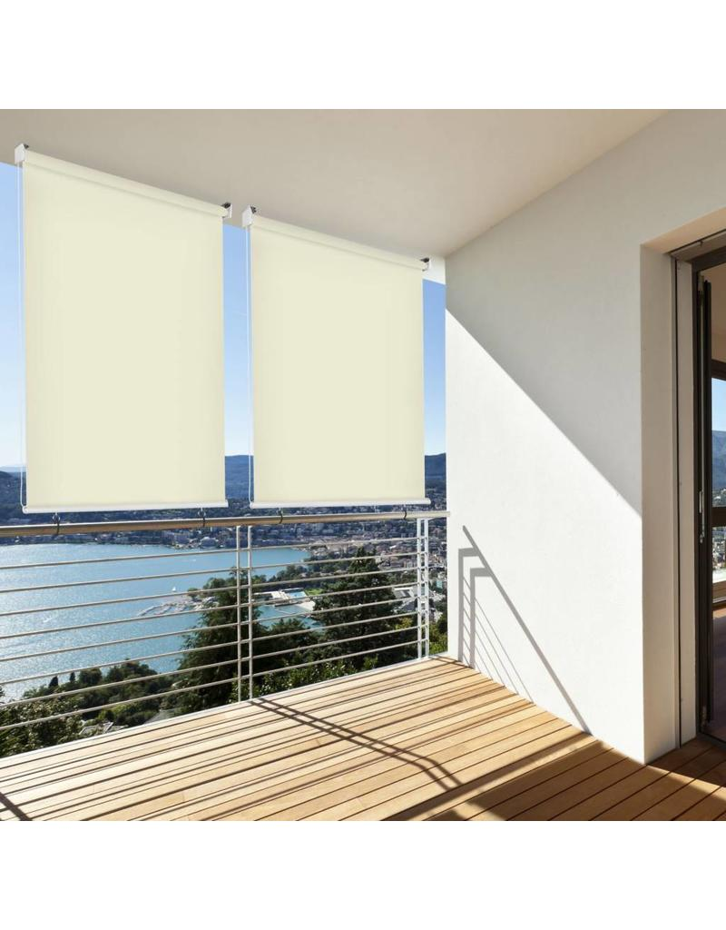 Sonnenschutz Rollo Aussenrollo Sichtschutz Balkon creme 140x140cm 302660214-VH