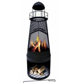Gartenkamin Feuerstelle Leuchtturm aus Metall 122cm 2155