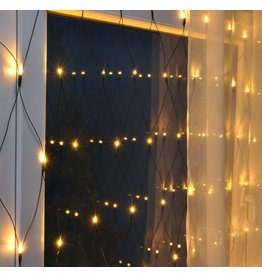 LED Lichternetz Lichtervorhang 160LEDs 320x150cm klares Licht für aussen 76047
