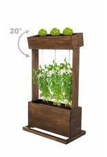 Home & Garden 301970108-HE Hochbeet mit Seilrankhilfen H145cm B50cm aus Holz