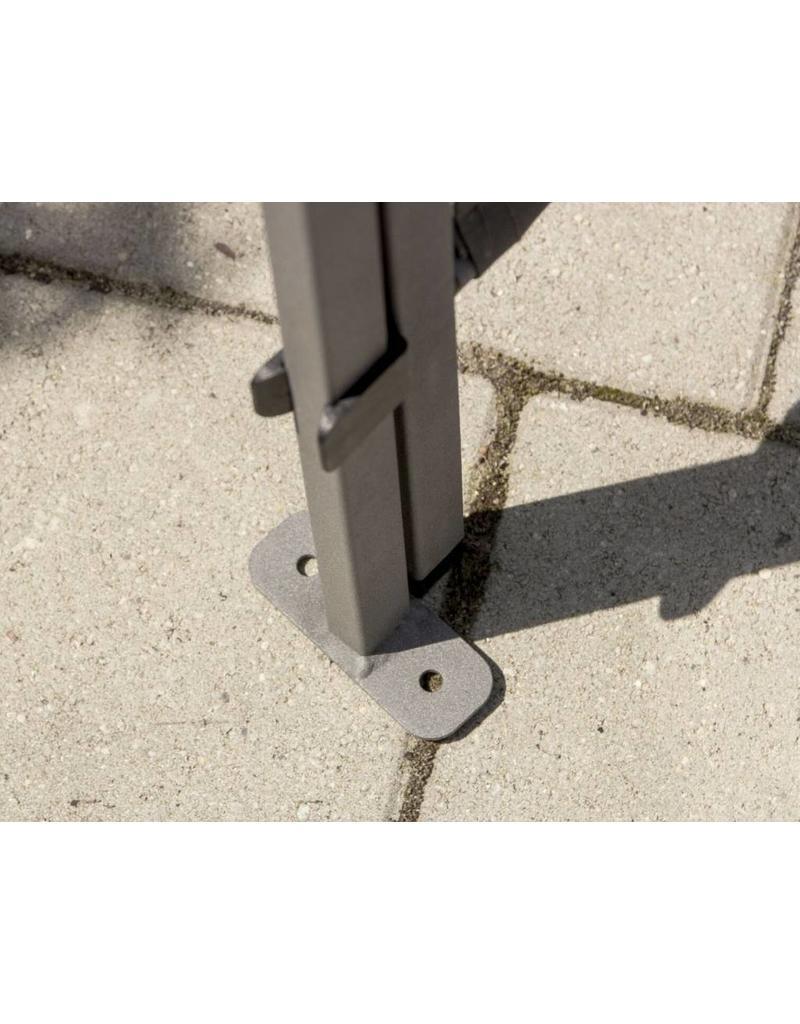 Paravent Sichtschutz Sonnenschutz Trennwand 170x170cm anthrazit 302240107-HE